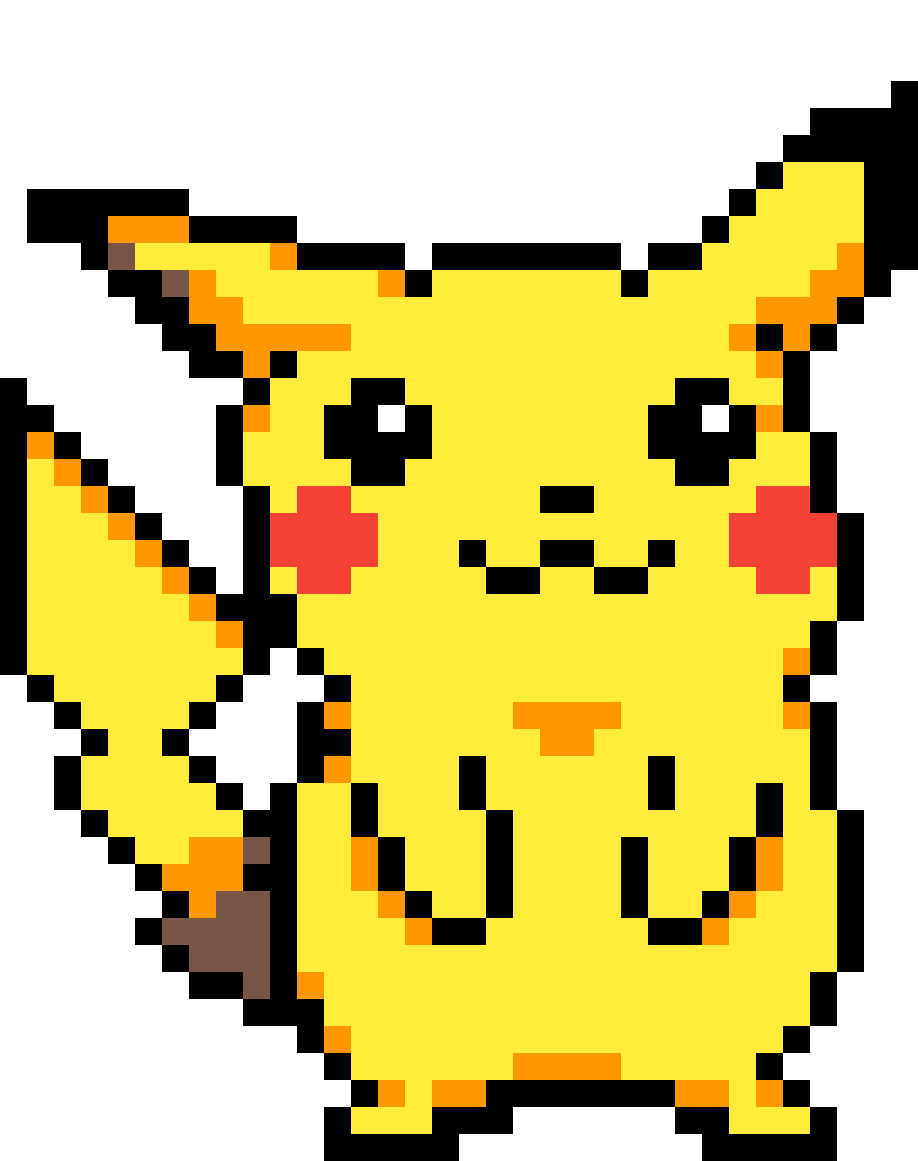 Pixilart Pikachu Pokemon Pixel Art By Aslestrikeavi This one was really fun, i dont usually draw complex pokemon, but i think this turned out good! pixilart pikachu pokemon pixel art by
