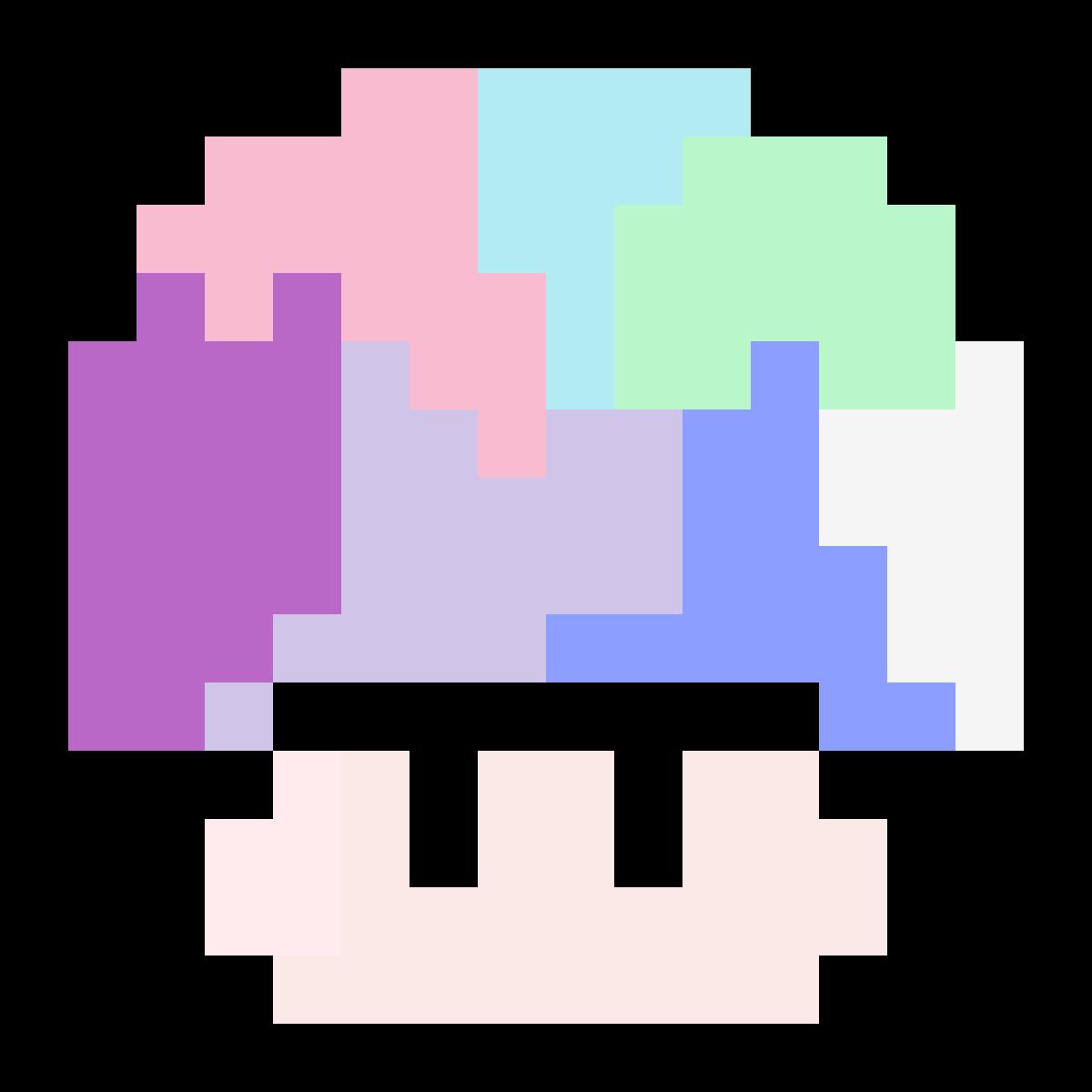 Pixilart Pastel Mario Mushroom By Kingcookie1111