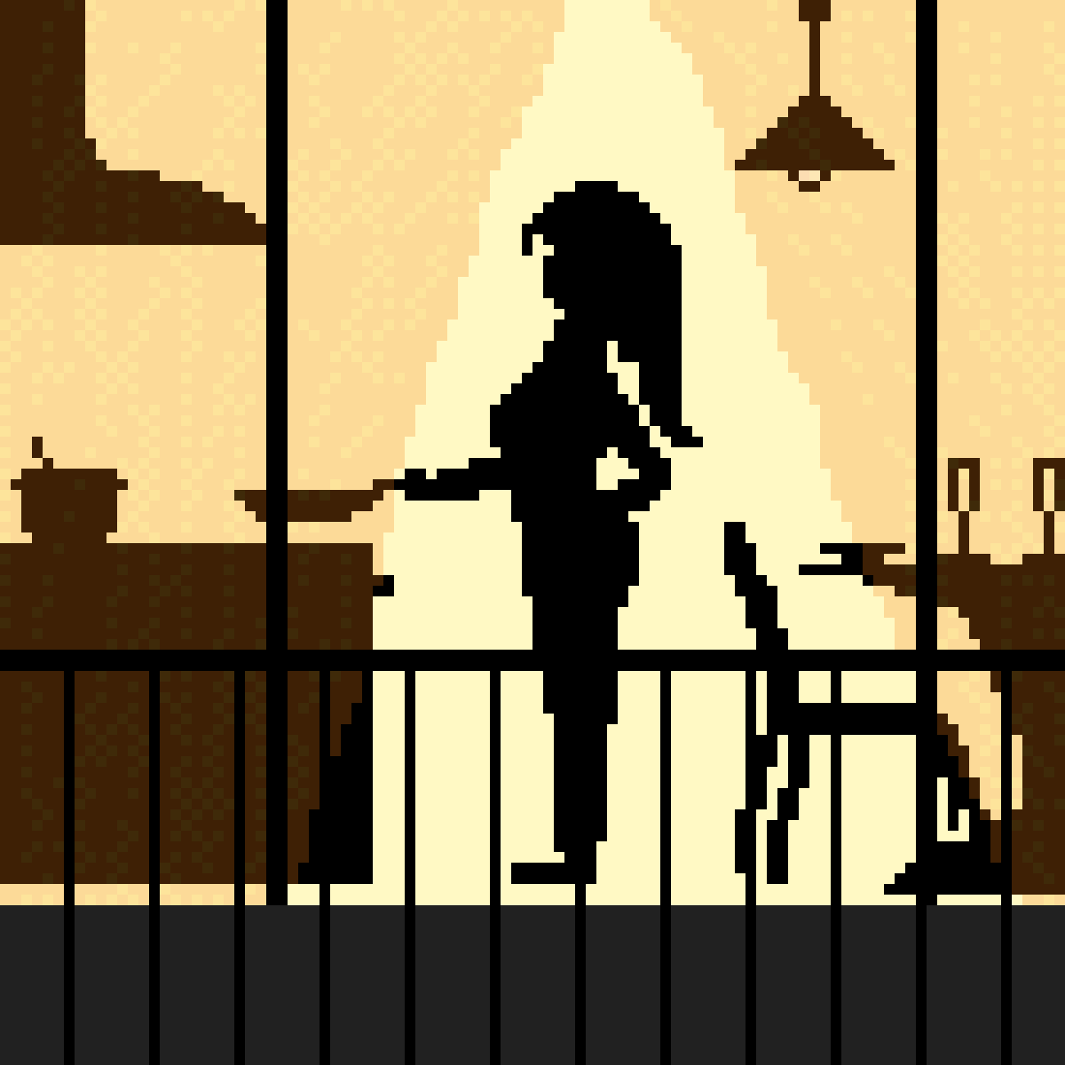 Woman in kitchen by PixelNArt