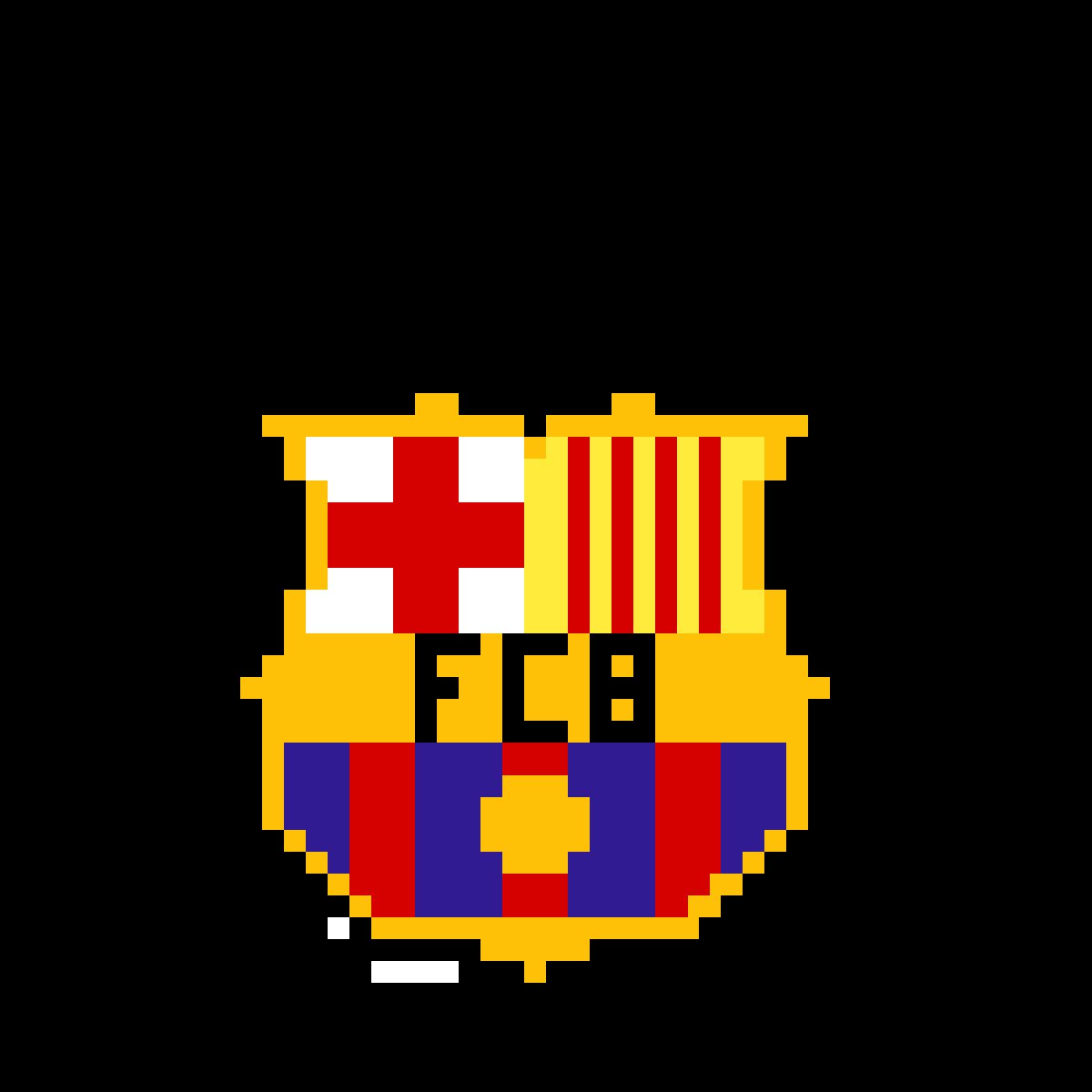Fc Barcelona Pixel Art