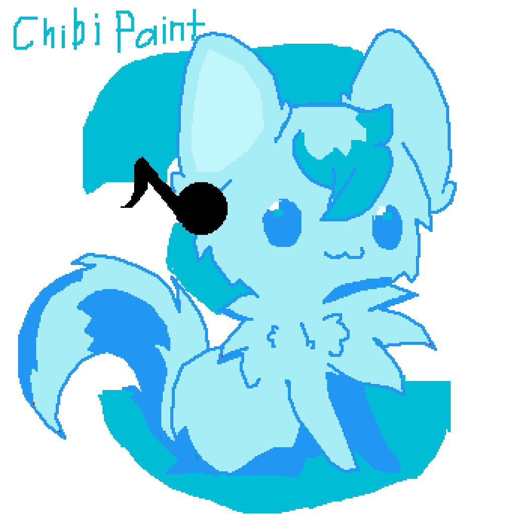 chibi wolf Paint  to much CUTENESSS AHHHHH  by Chibi-Creates