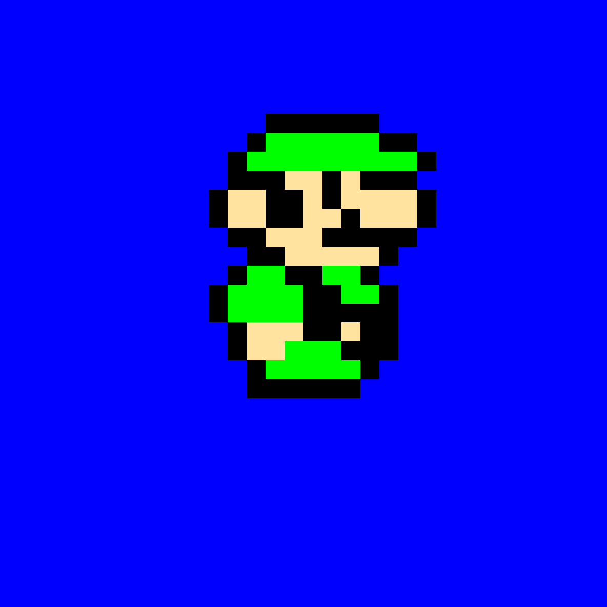 super mario bros 3 luigi pixel art