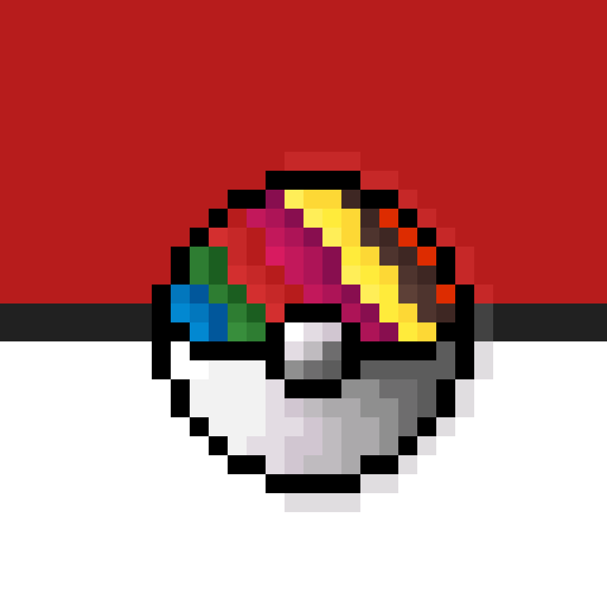 Rainbow Pokeball by kermithan