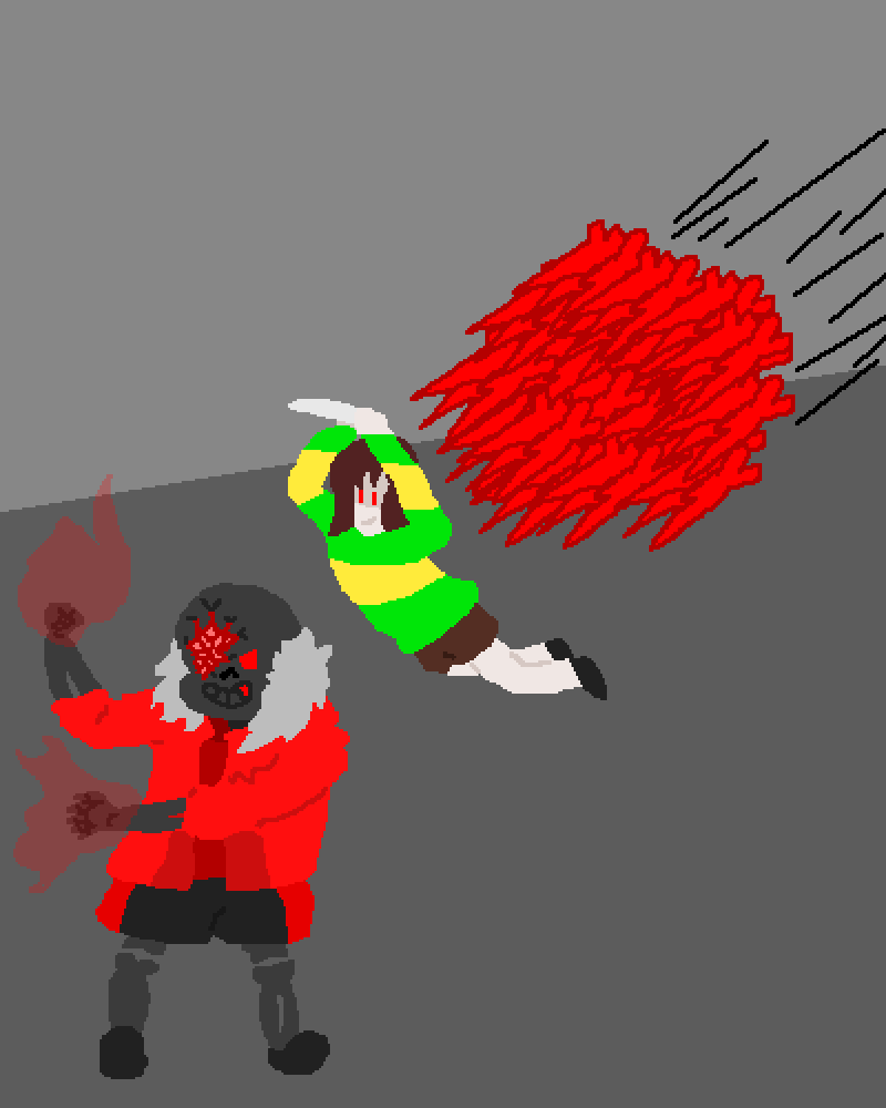 (Request) Broken Red Sans vs Chara by Immediate54