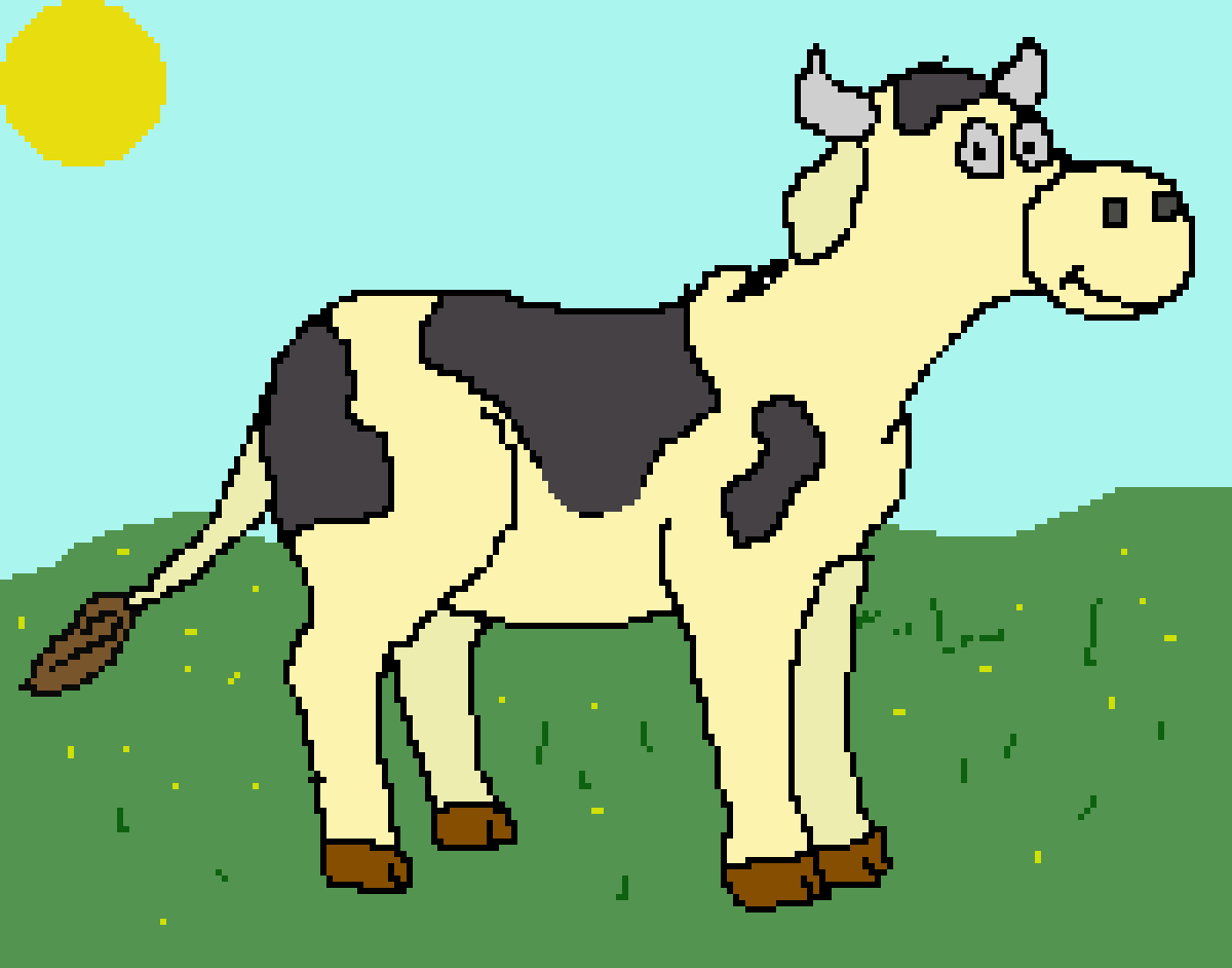 main-image-Cow Drawing  by TylerPatterson