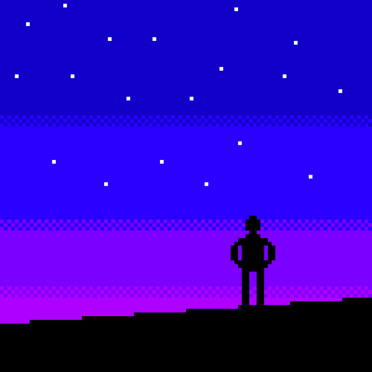 Aesthetic Man looking at the sunset by AmericanPsycho