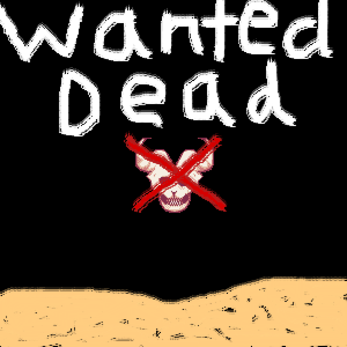 Wanted Dead the skull by the-black-death