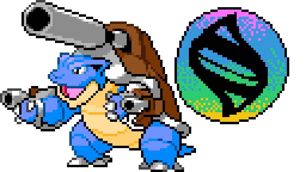 Pixilart Pixel Mega Blastoise With Mega Stone By Dancer Jek