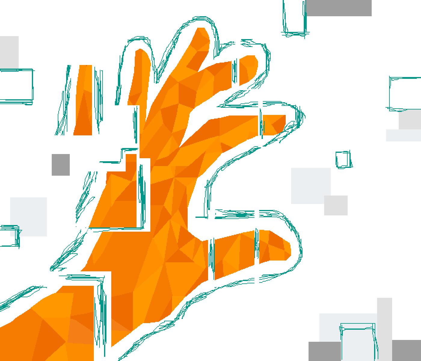 hand glitch by Ryland