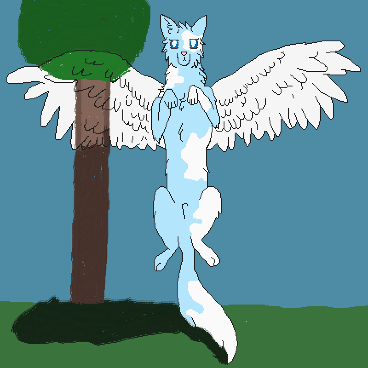 Ocean The Wolf A Oc! (Wings Are Transparent) by WolfieLuver