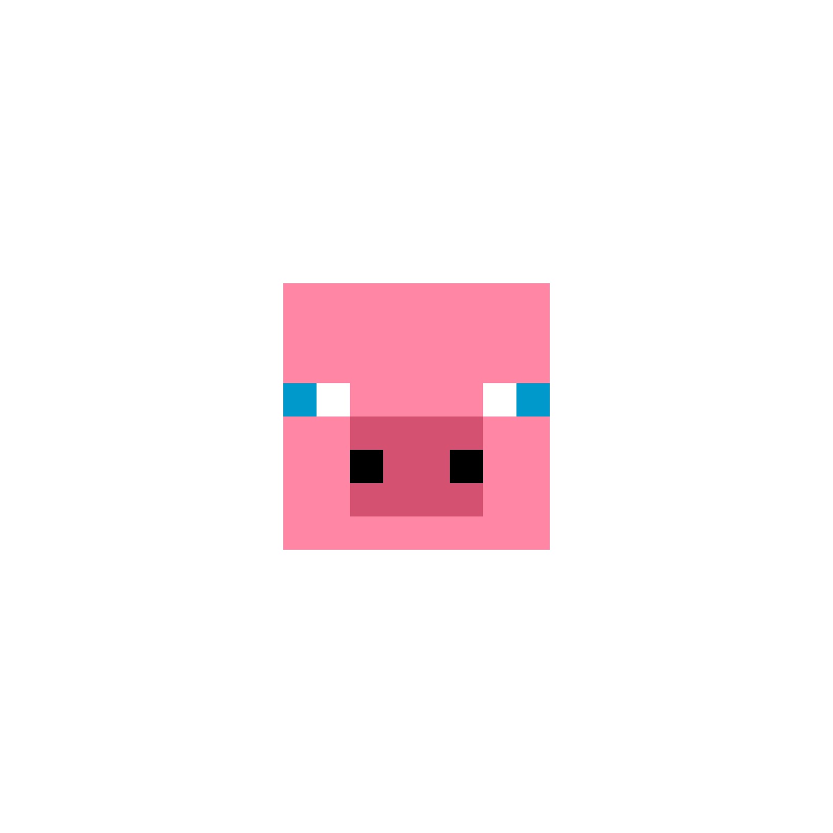 minecraft pig by ducky11