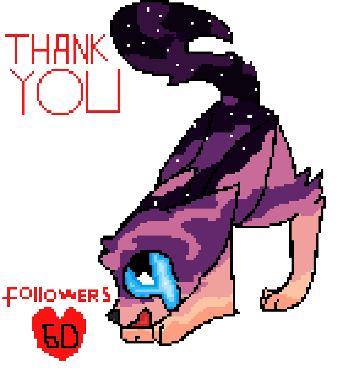 thank you for 60 followers by rachelpongo