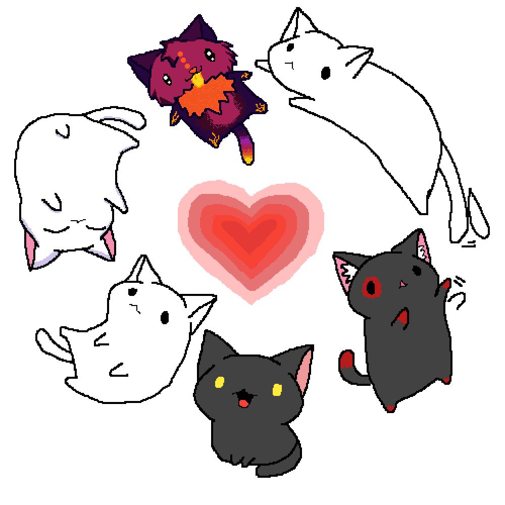 Kitten love... by Freddybonnie