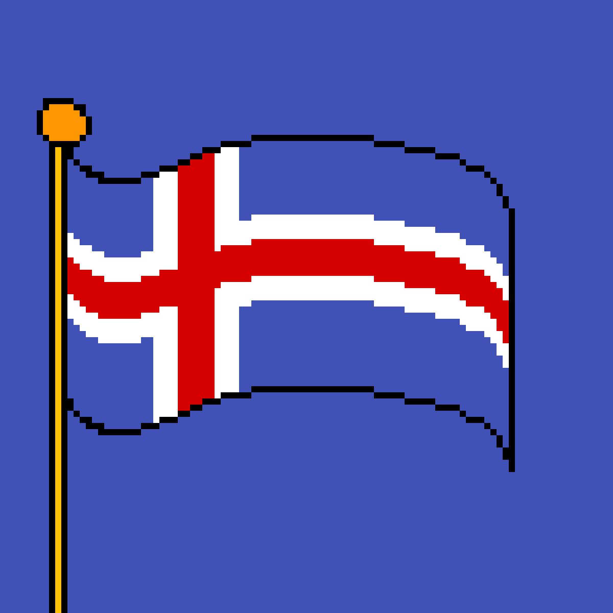 The flag of Iceland by poison-darts317