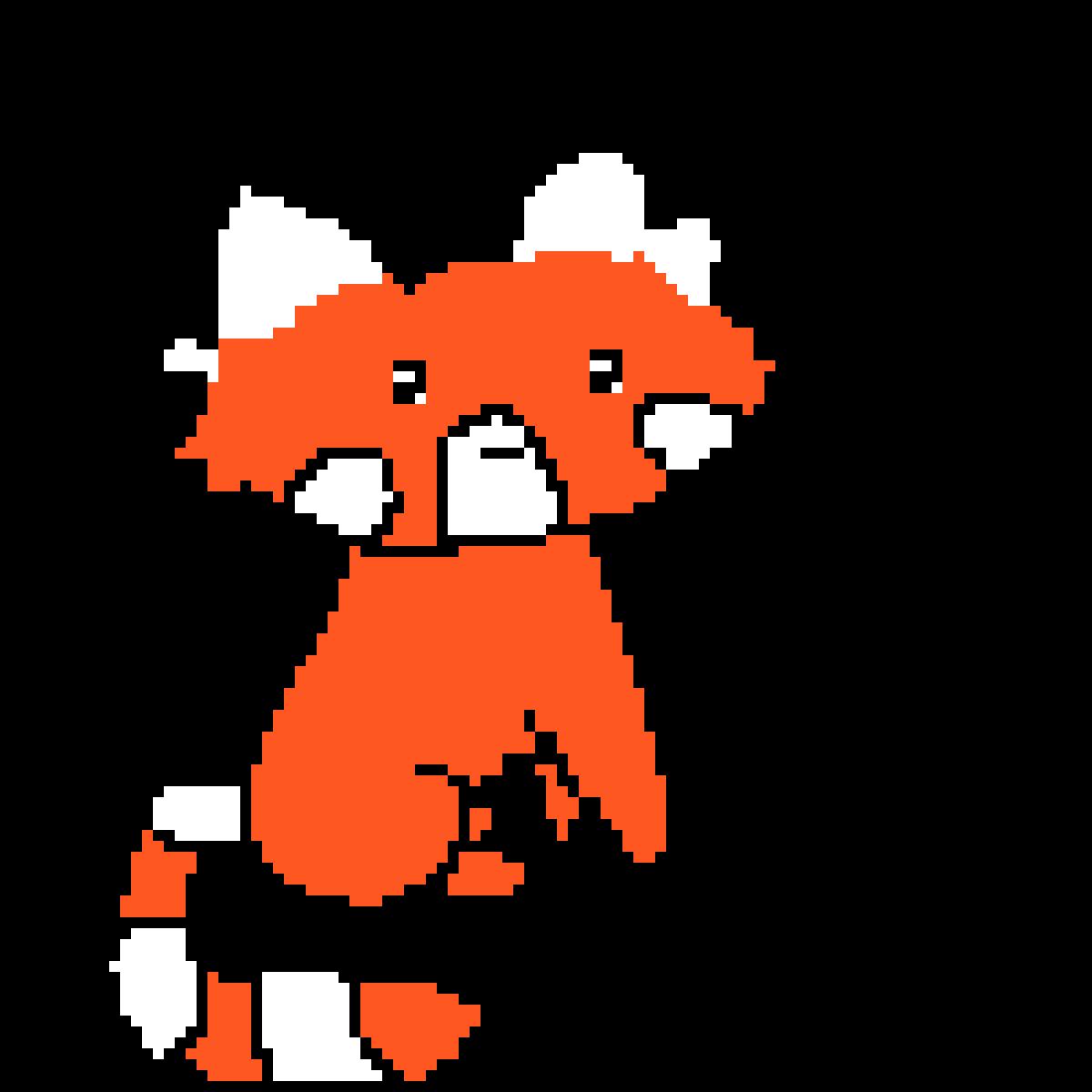 red panda by pixie-eevee