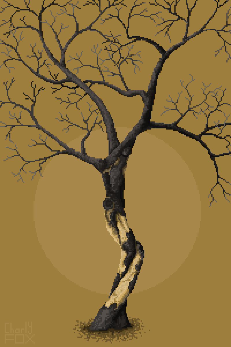 Gnarled tree by Charly-Fox