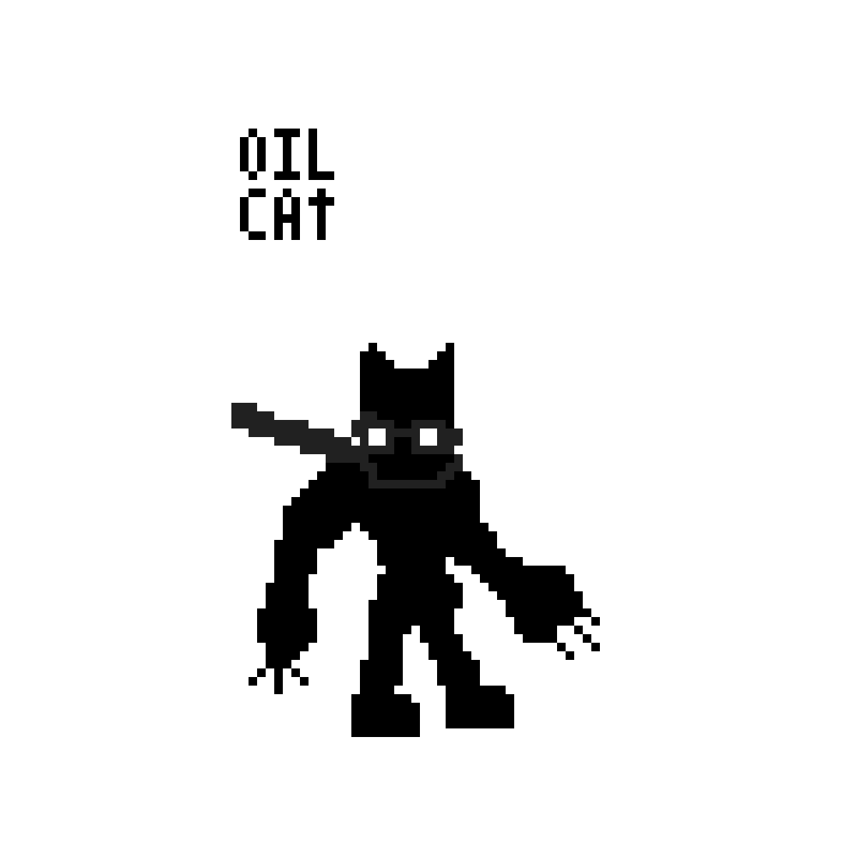 Oil Cat by Crow