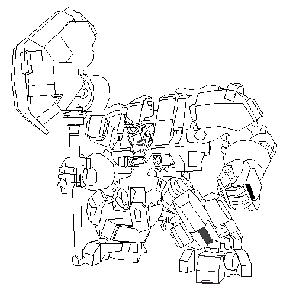 giant mech  by mieres