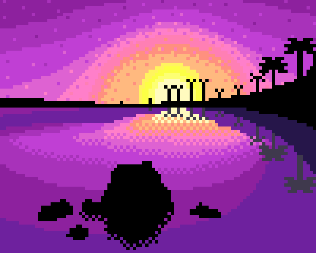 Purple Beach Sunset by Floof
