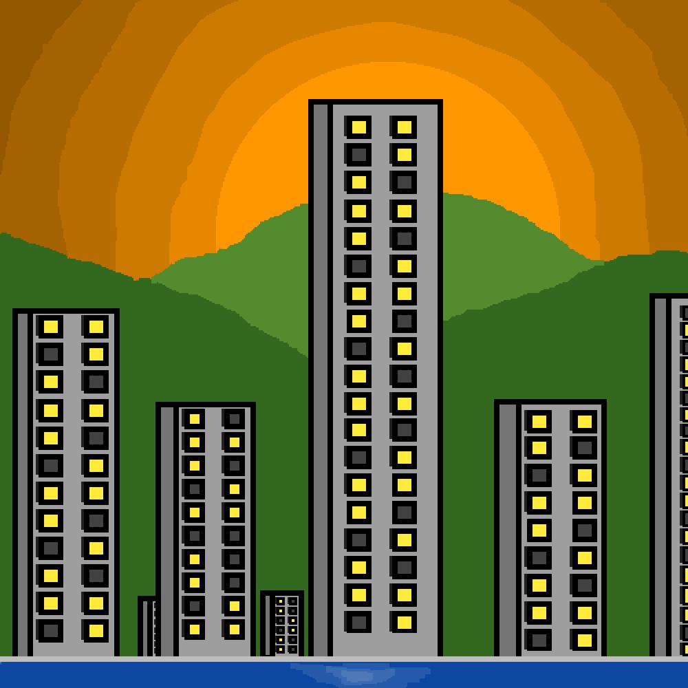 sunset city by KINGZEALGAMER
