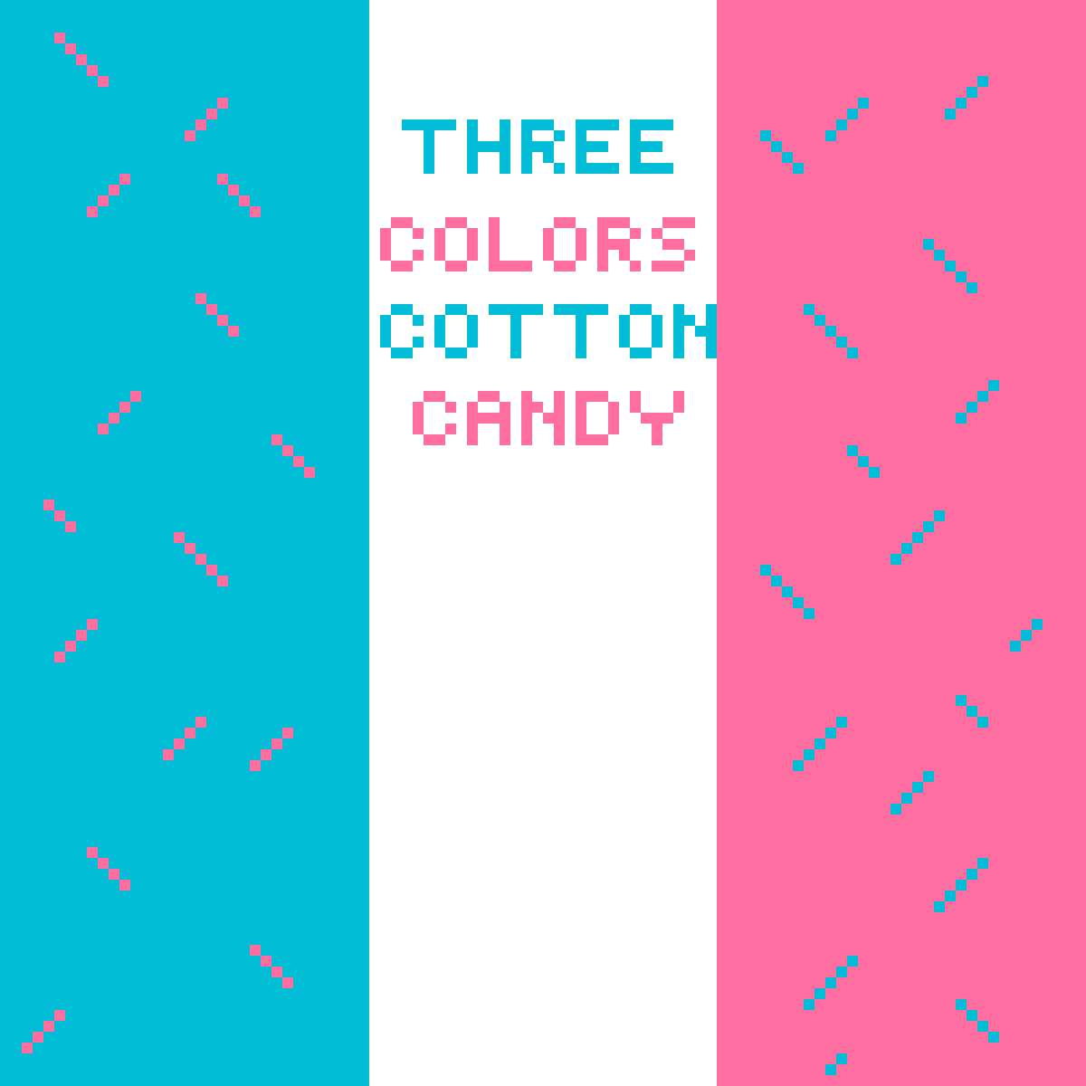 Three colors of COTTON CANDY!!!! :D :D :D :D by AbstractTeal