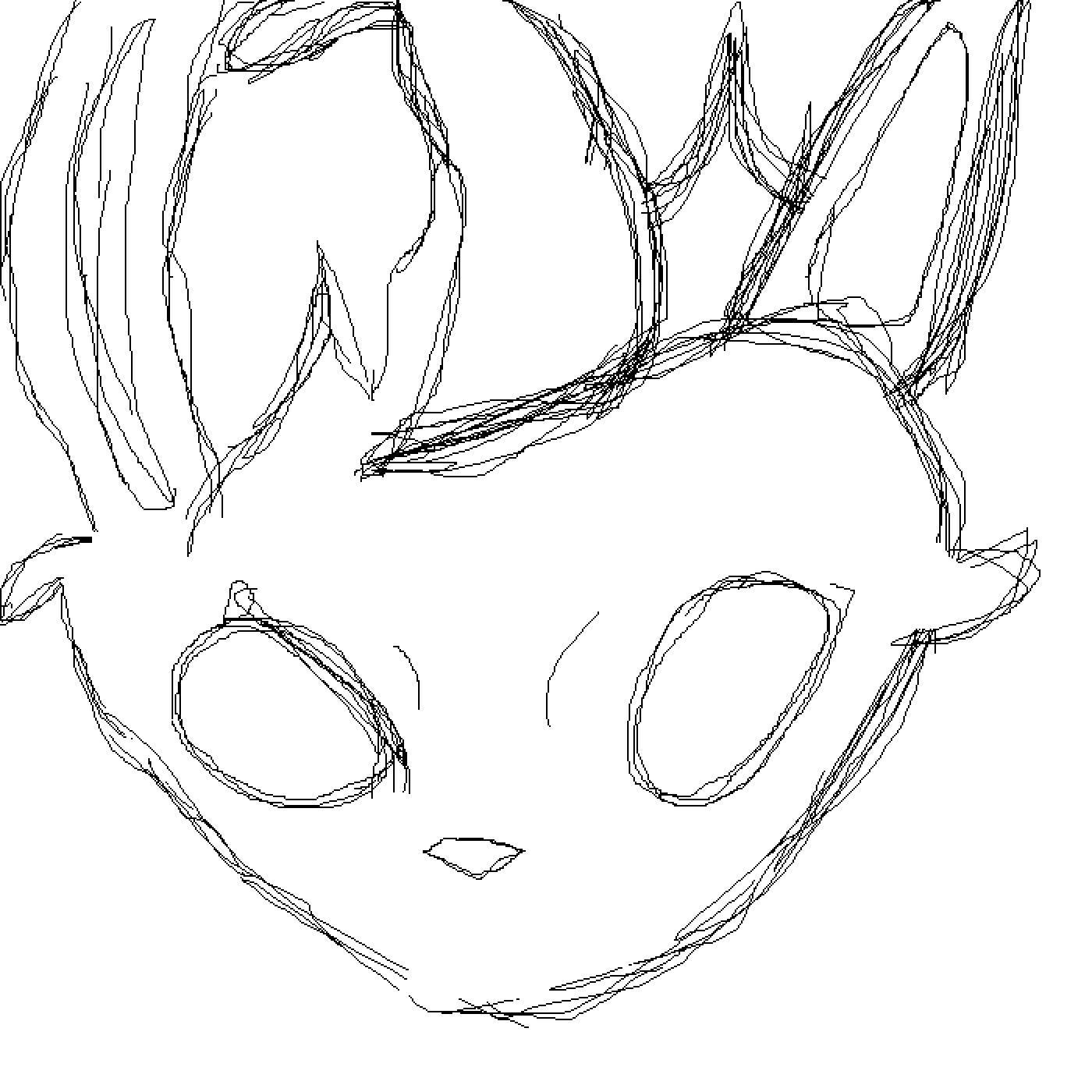 Leafeon sketch  by Zyragoon