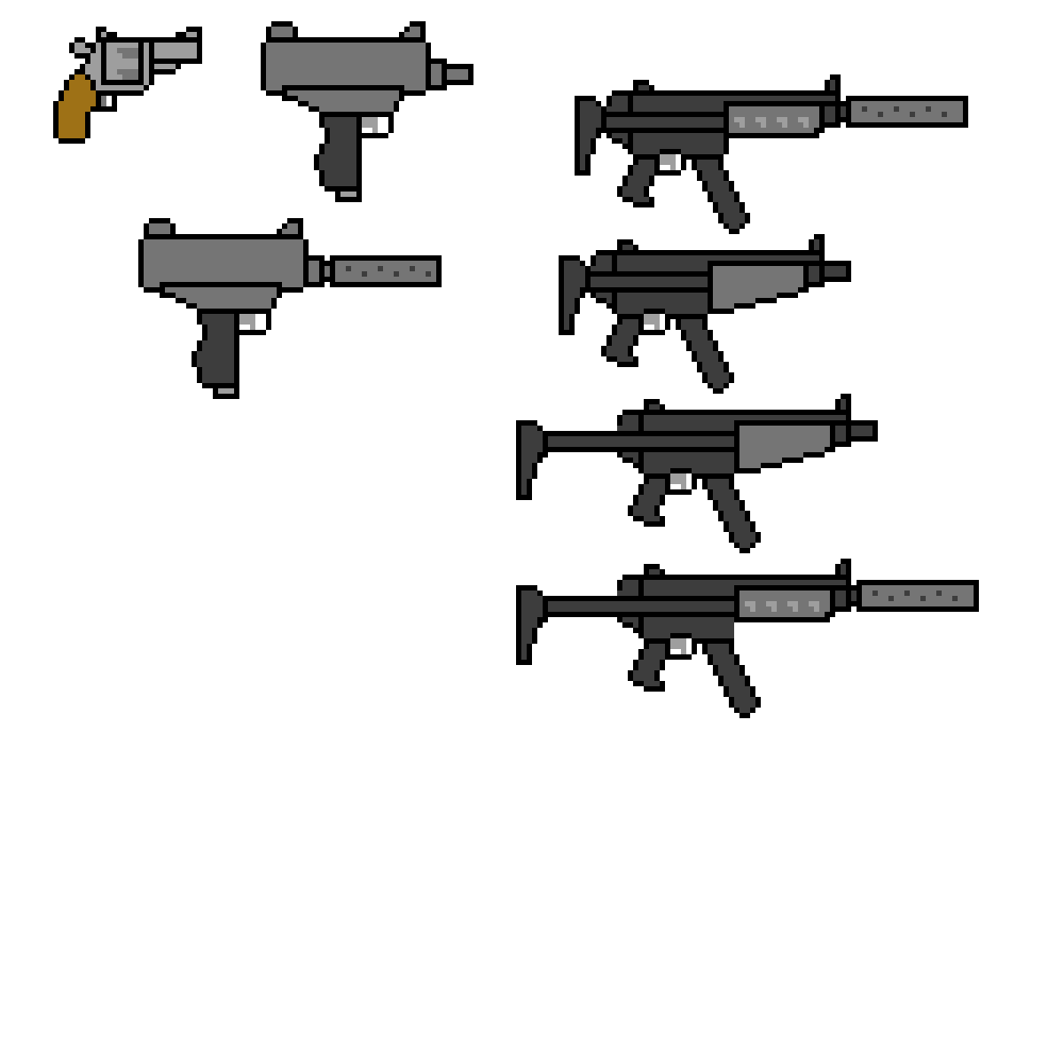 Pixilart - Revolver-Mp5(stock+extended)-Mp5 SD(stock+
