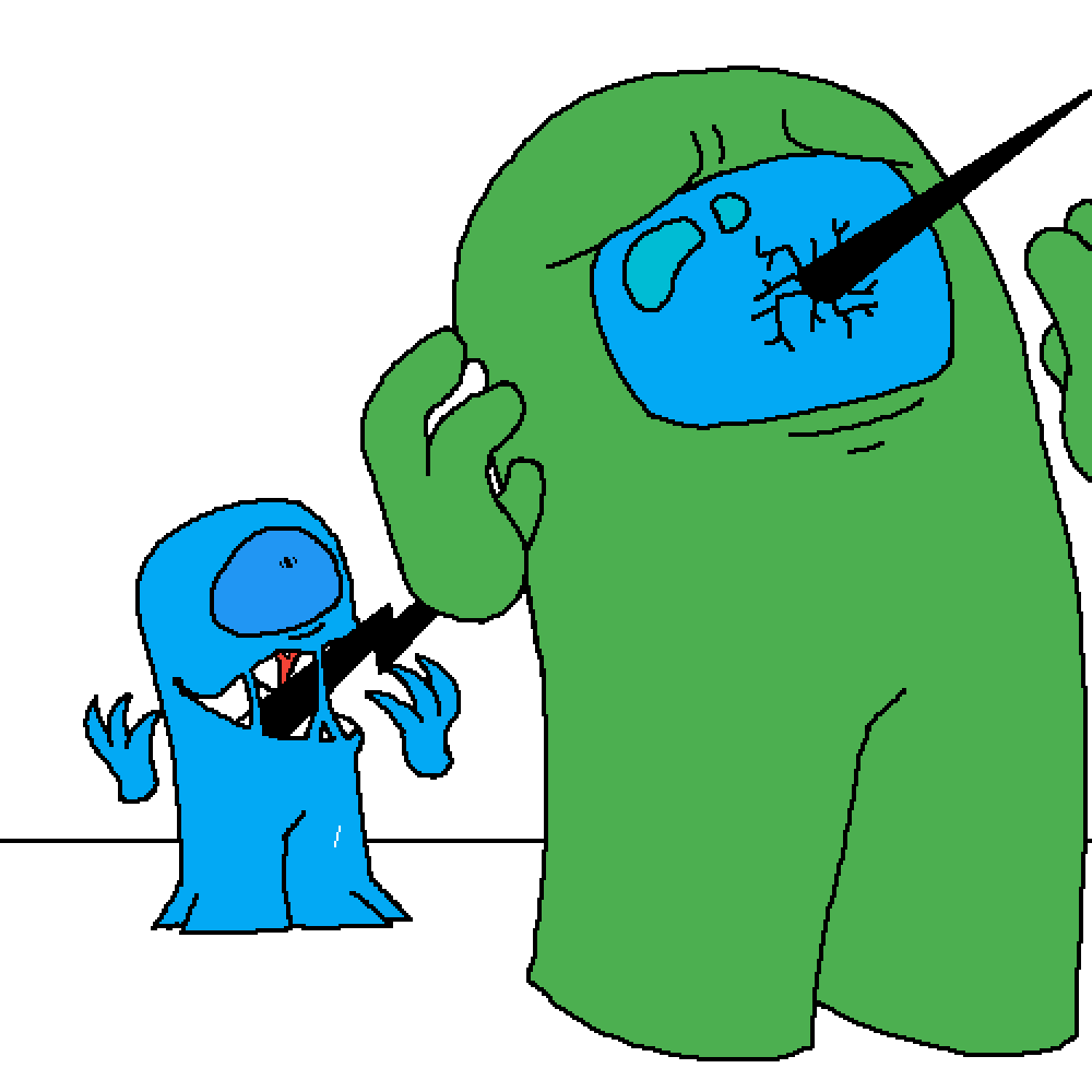 my blue imposter oc
