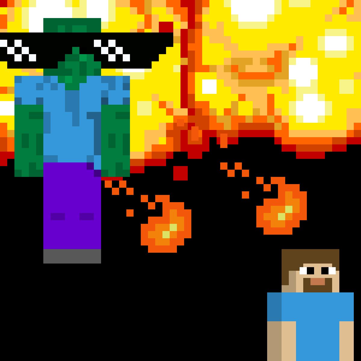 Zombie trying to kill Steve by ChandriyaGop