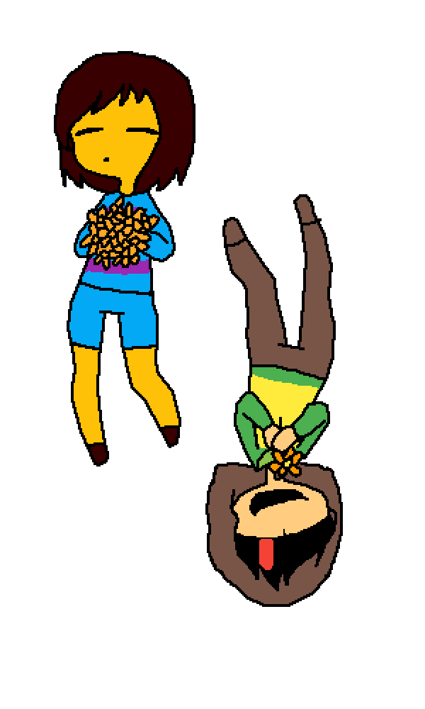 main-image-Frisk and Chara Yeet  by FurryBiscut