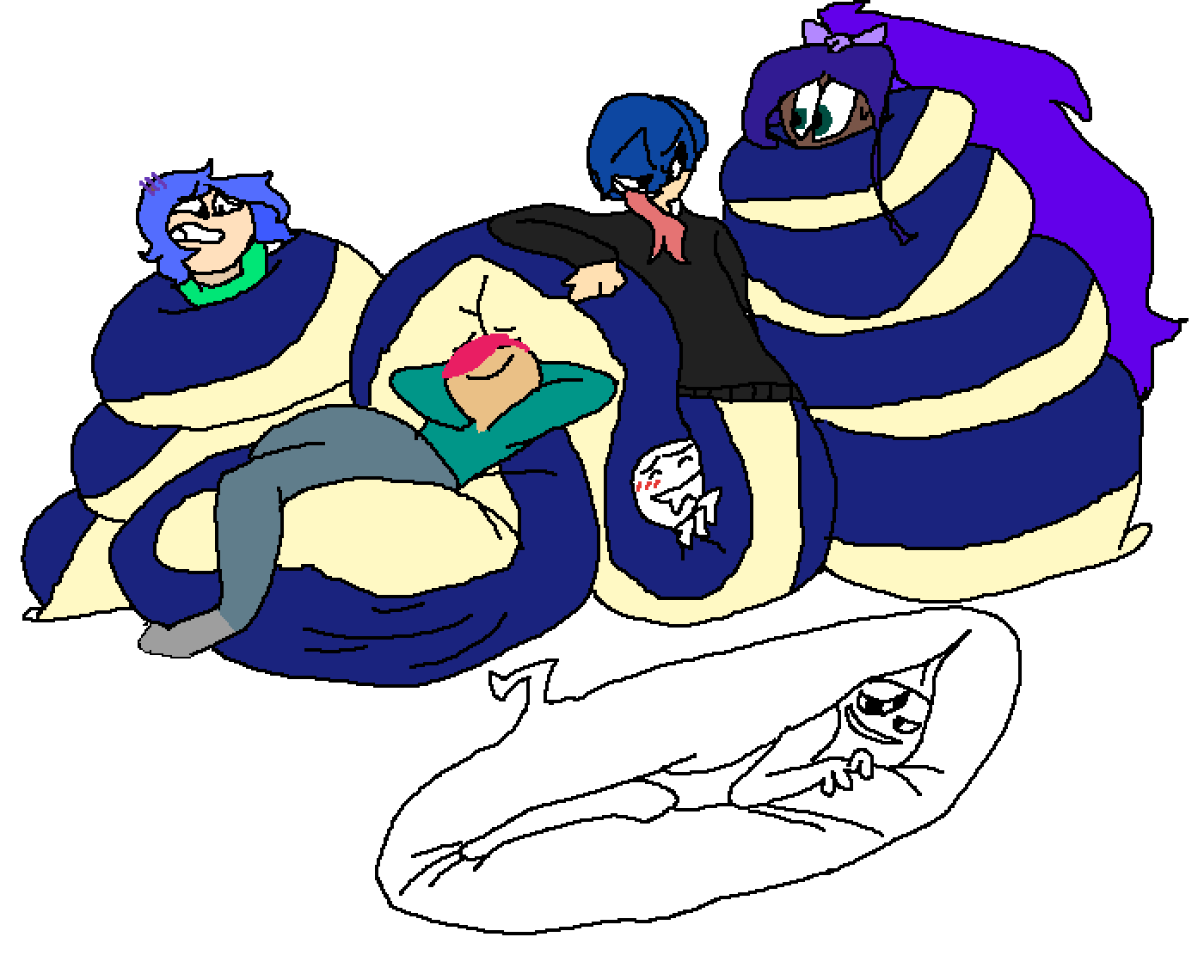 chilling in a big snek by Serif