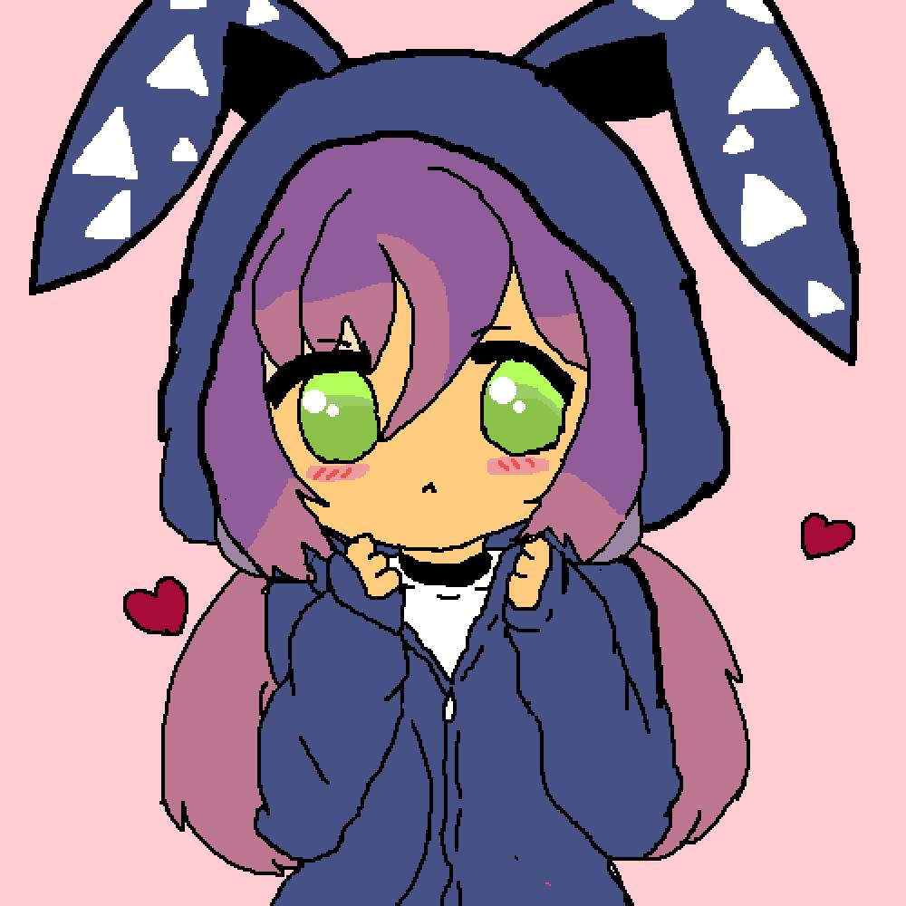cute bunny girl edit by lunarpetal1