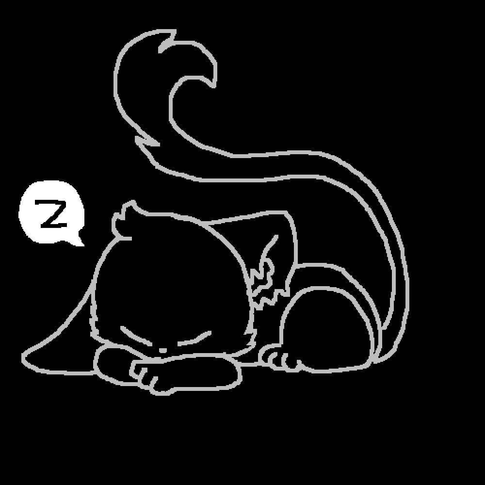 Sleepin' cat base by TheFallenAngel