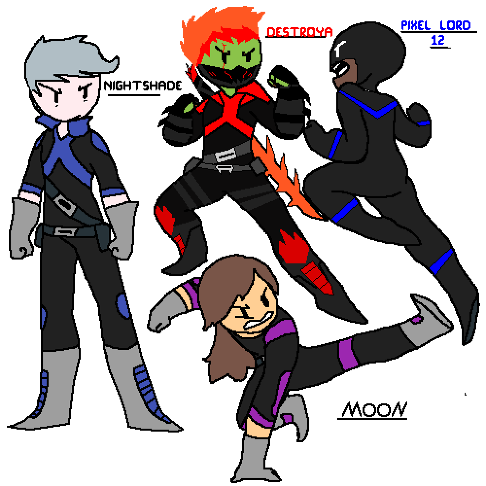 Pixilart - The All Star Squad by Pixel-Lord-12