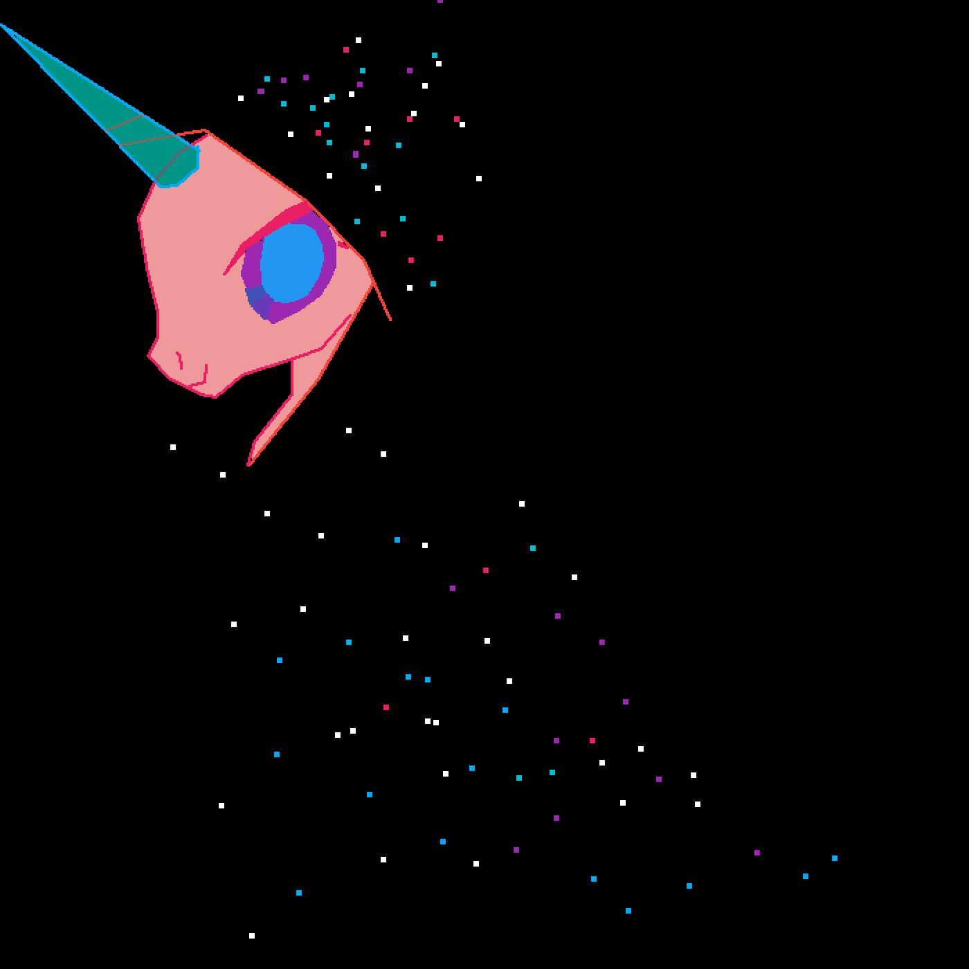 starry night unicorn by bunnybekah13