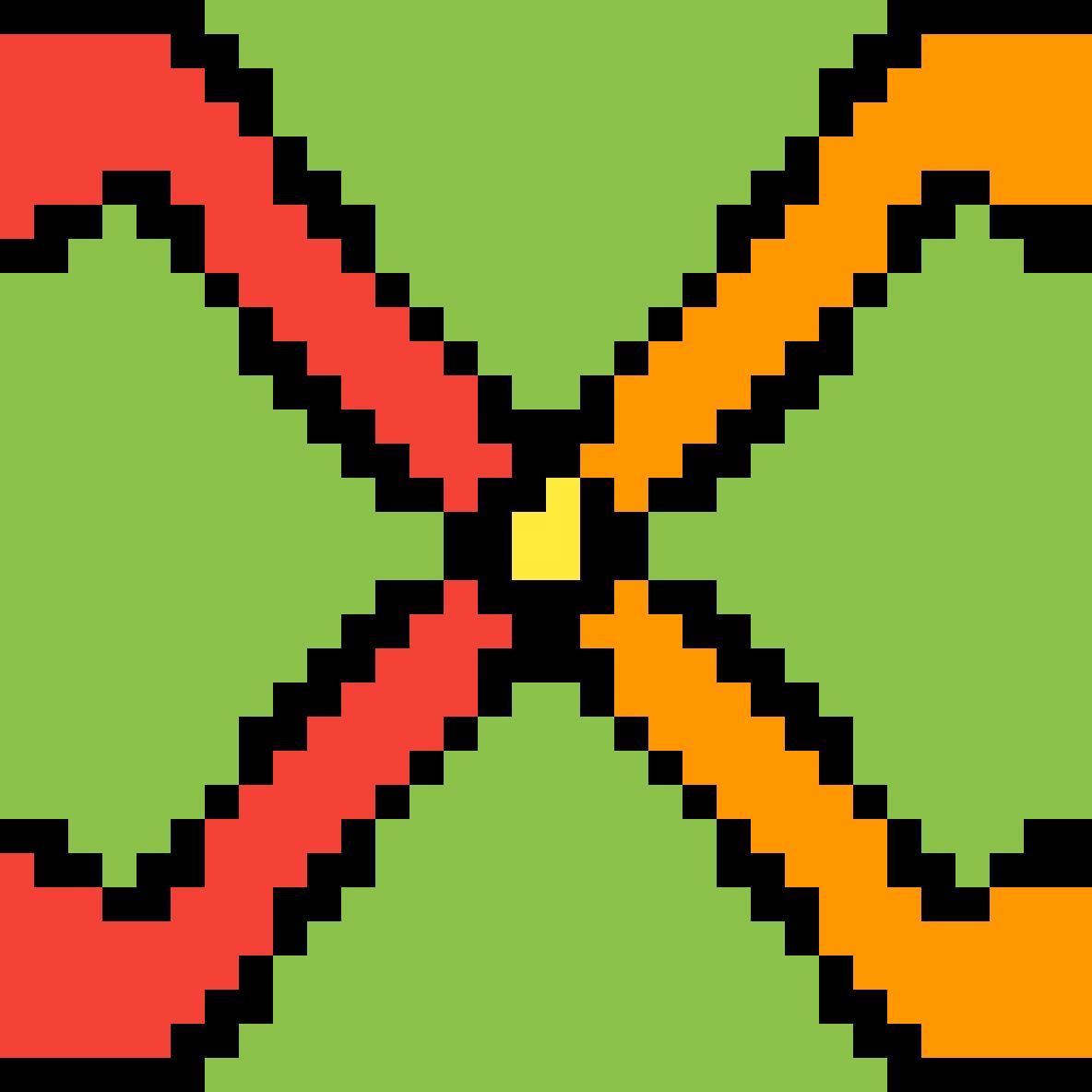 It's an X by Glitchtrap