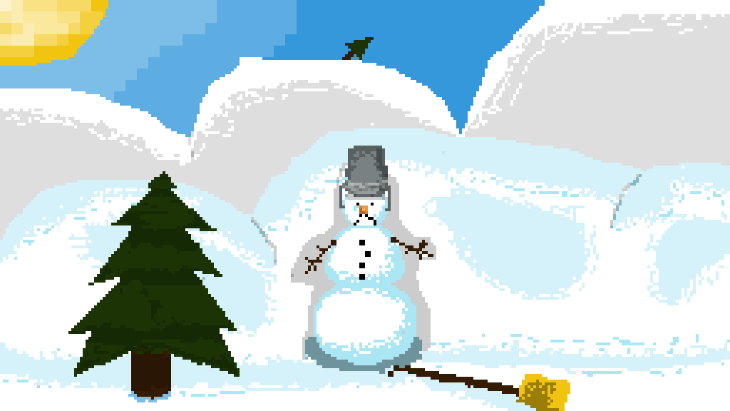 The lonely snowman by estbaconlord