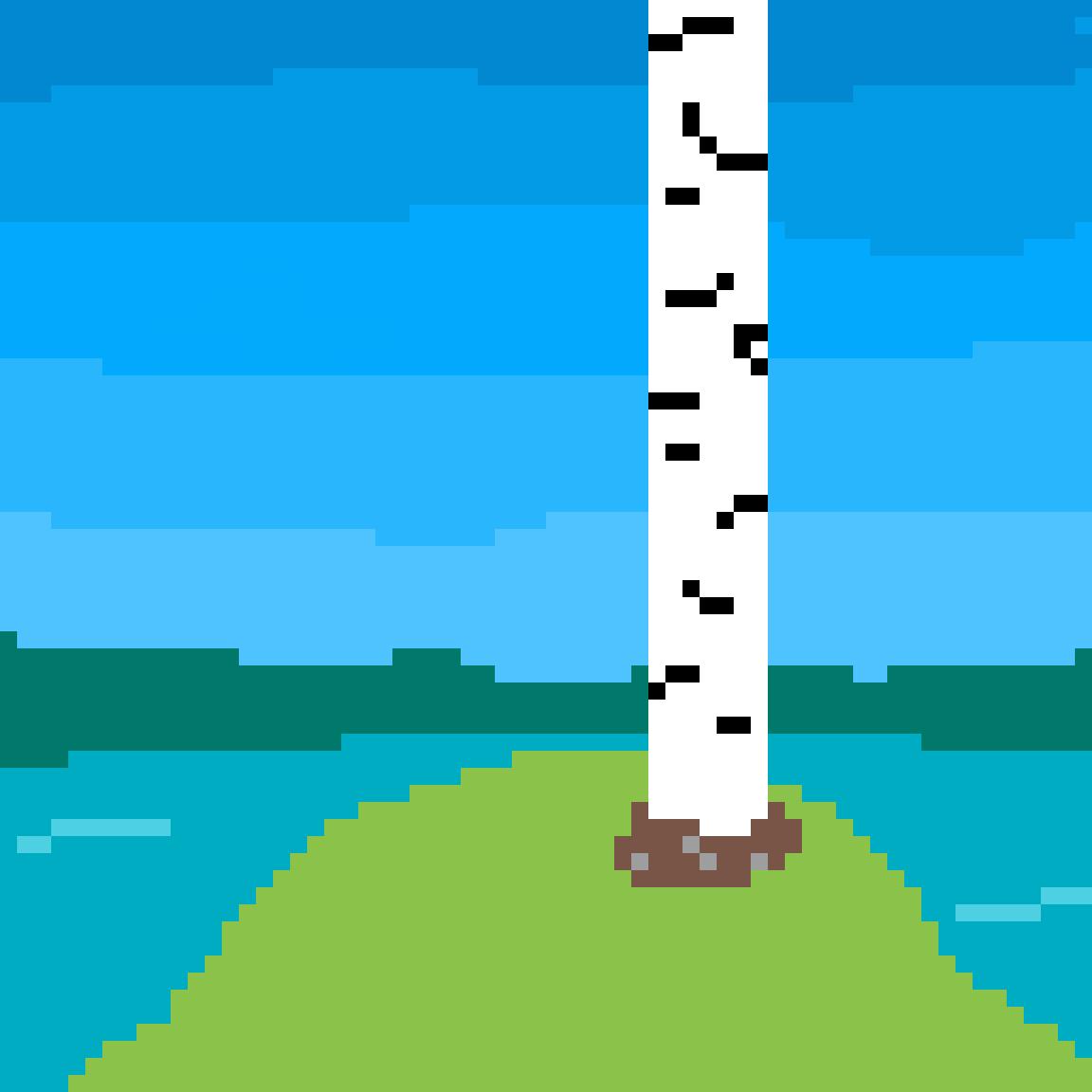 Birch tree by N-K524