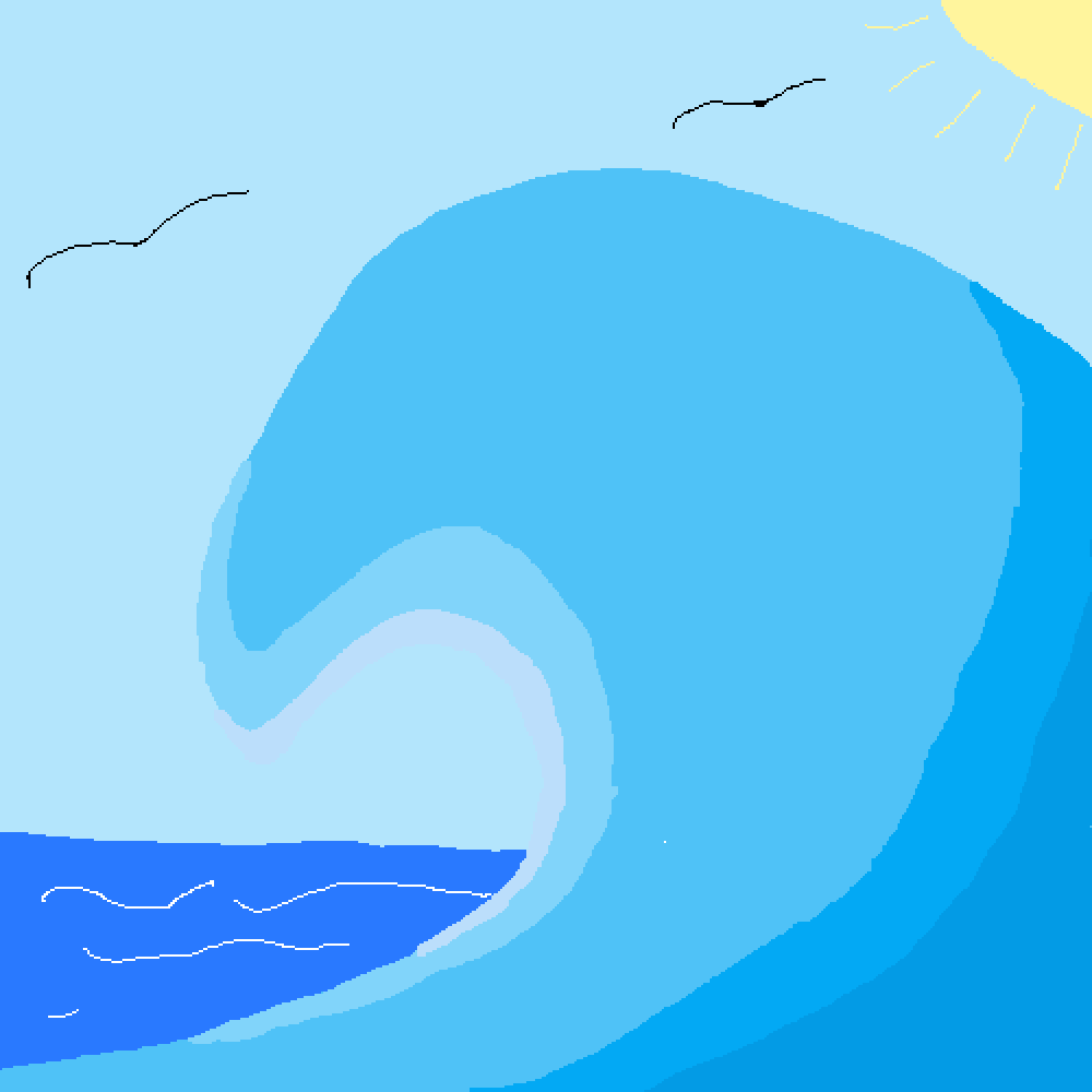 #challenge Ocean wave by yeeangel