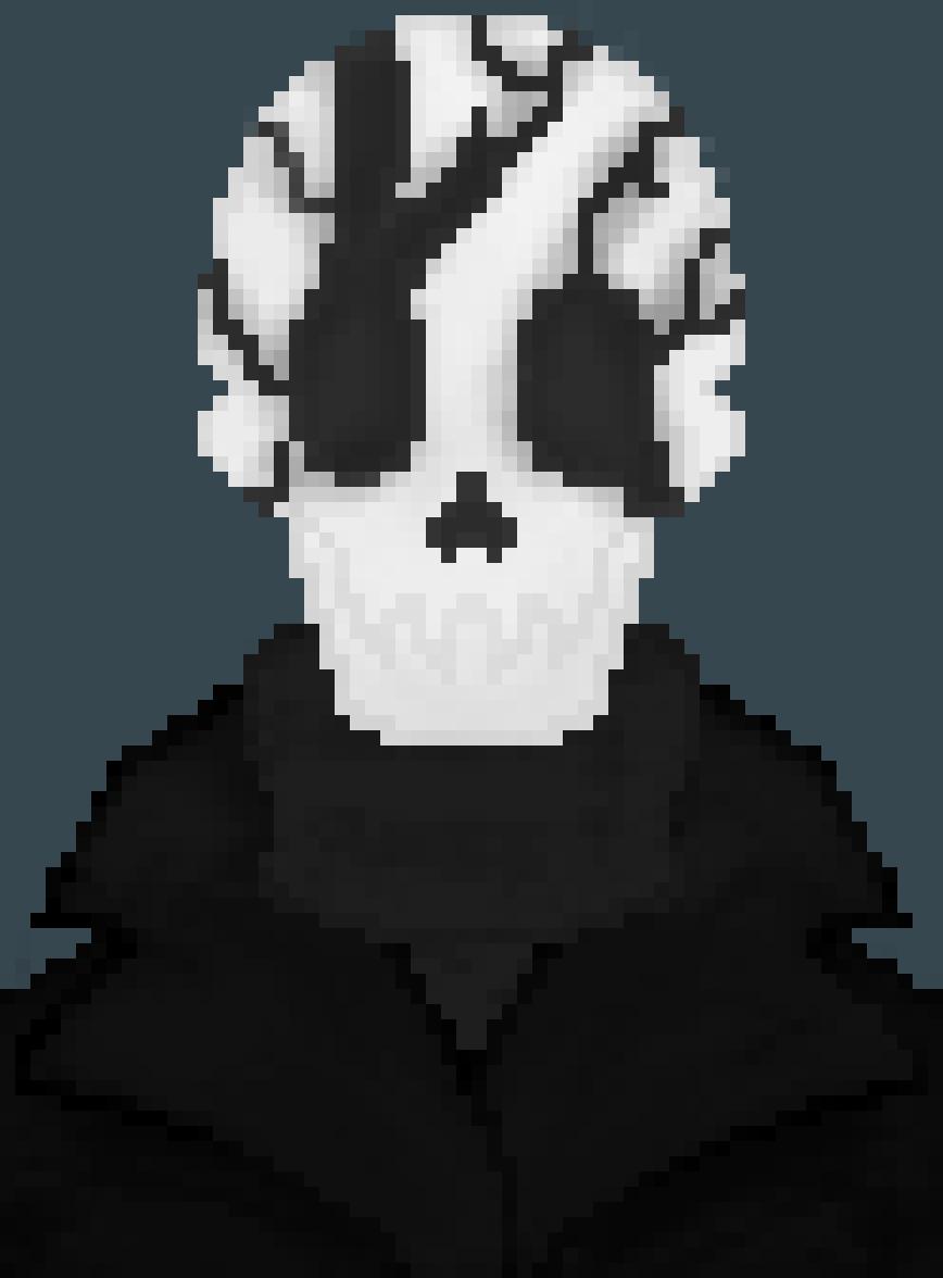 Hackedtale Concept Art: Black Hat by HgMercury73
