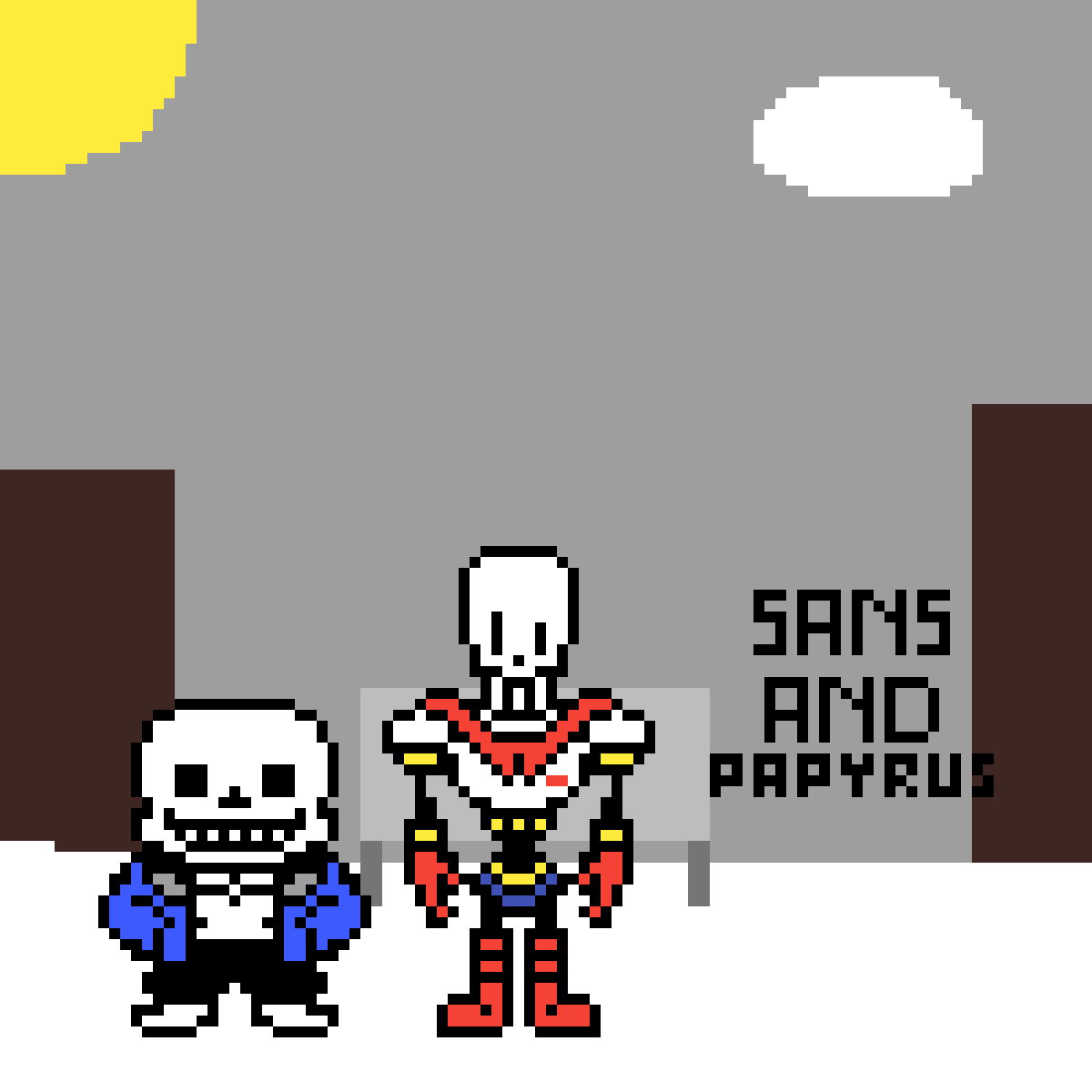 Sans and Papyrus by NitroPlayz