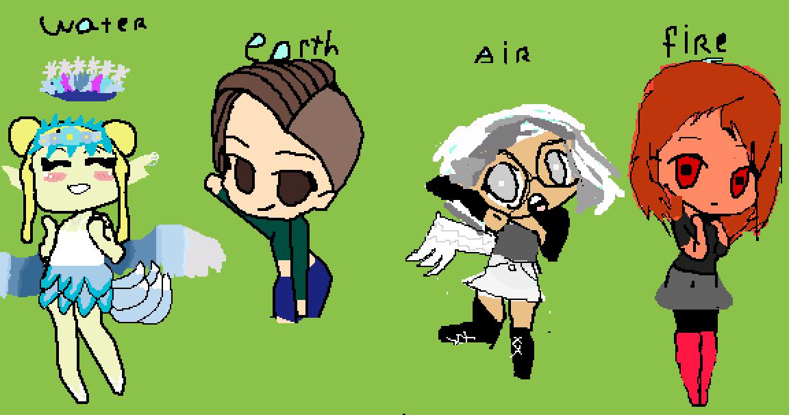 element sisters  by lunarpetal1