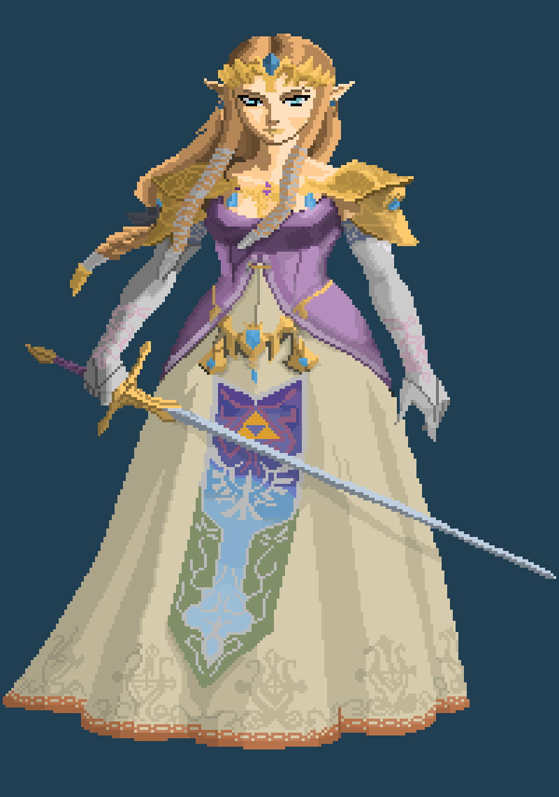 Traced Zelda by figi4569