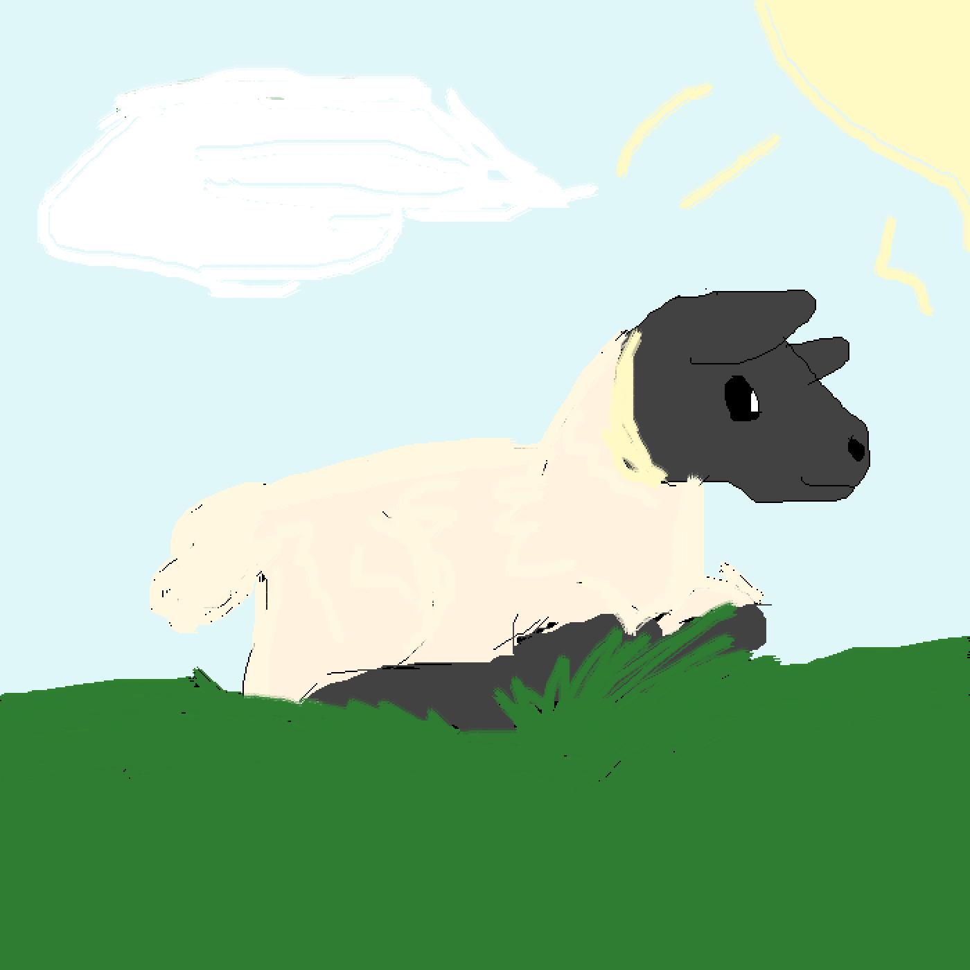 Easter sheep by Goatgirlgames