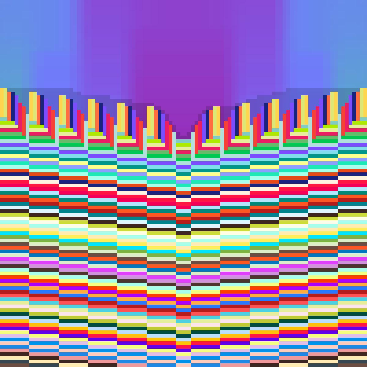 Rainbow Skyedpillars by PrincessPika