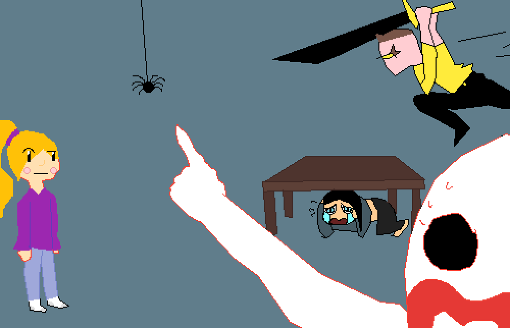 me if i saw a spider by DarkDerpy2527
