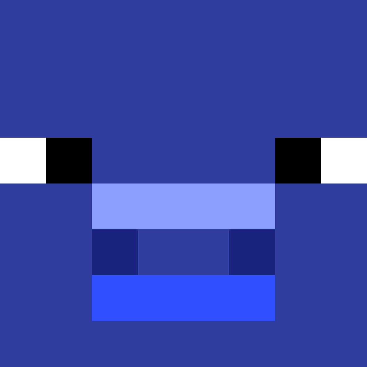 blue pig by EddieChero