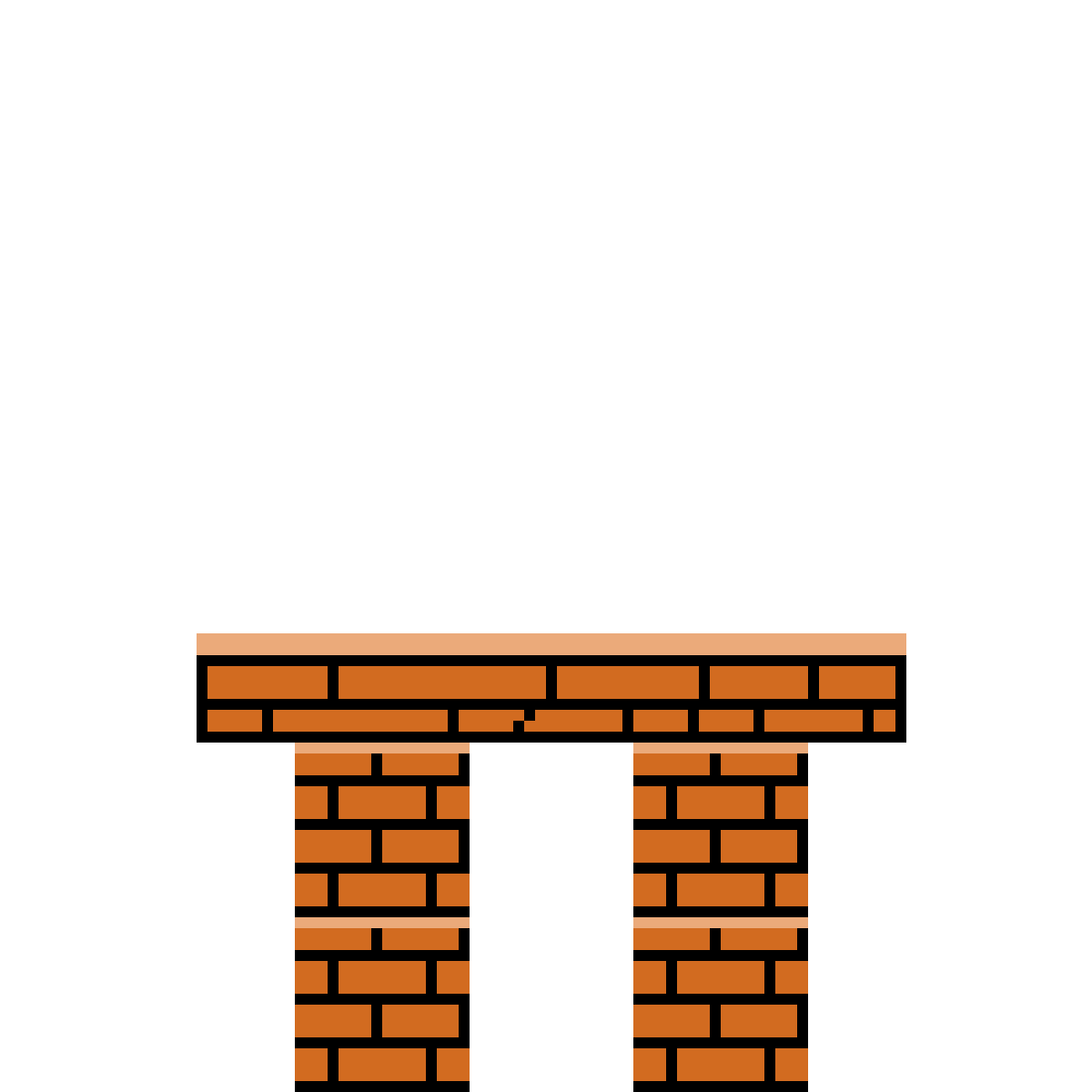 Brick table by Asteroid