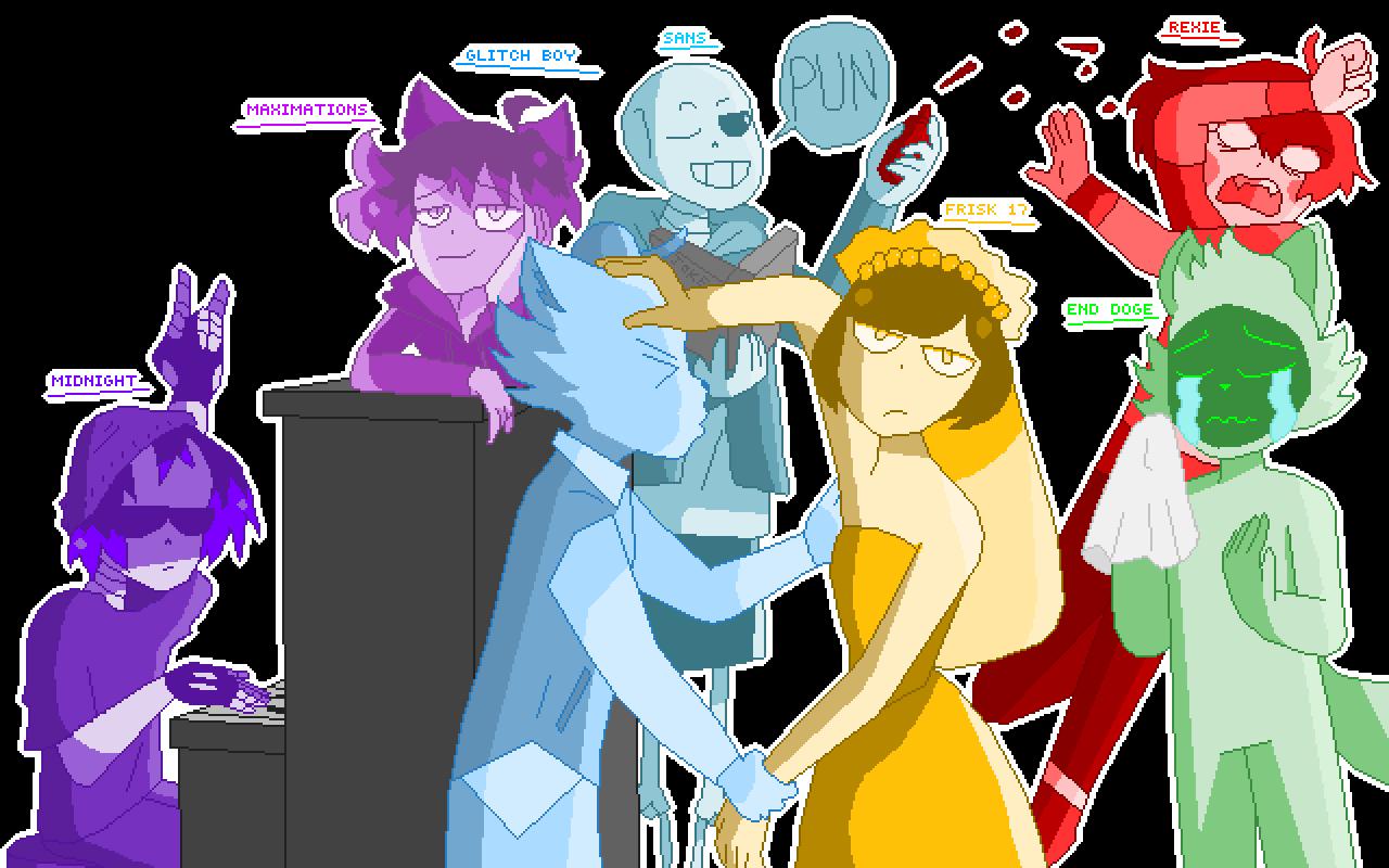 BEST PIXEL FRIENDS by DatFriskyPotato