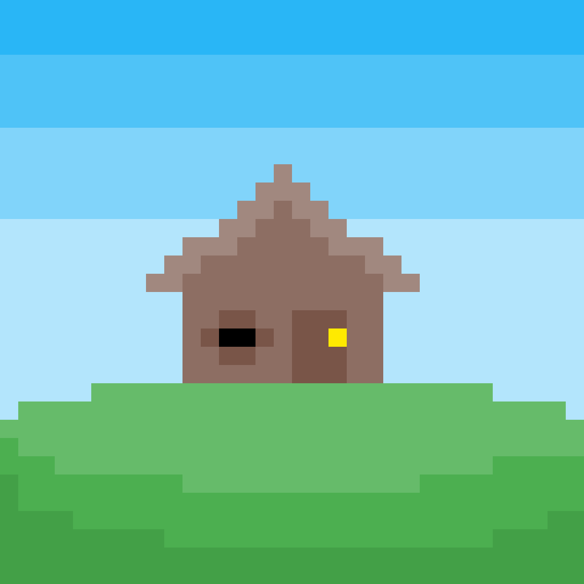 House On A Hill (Mobile) by Floof